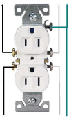 Standard receptacle outlet wiring diagram