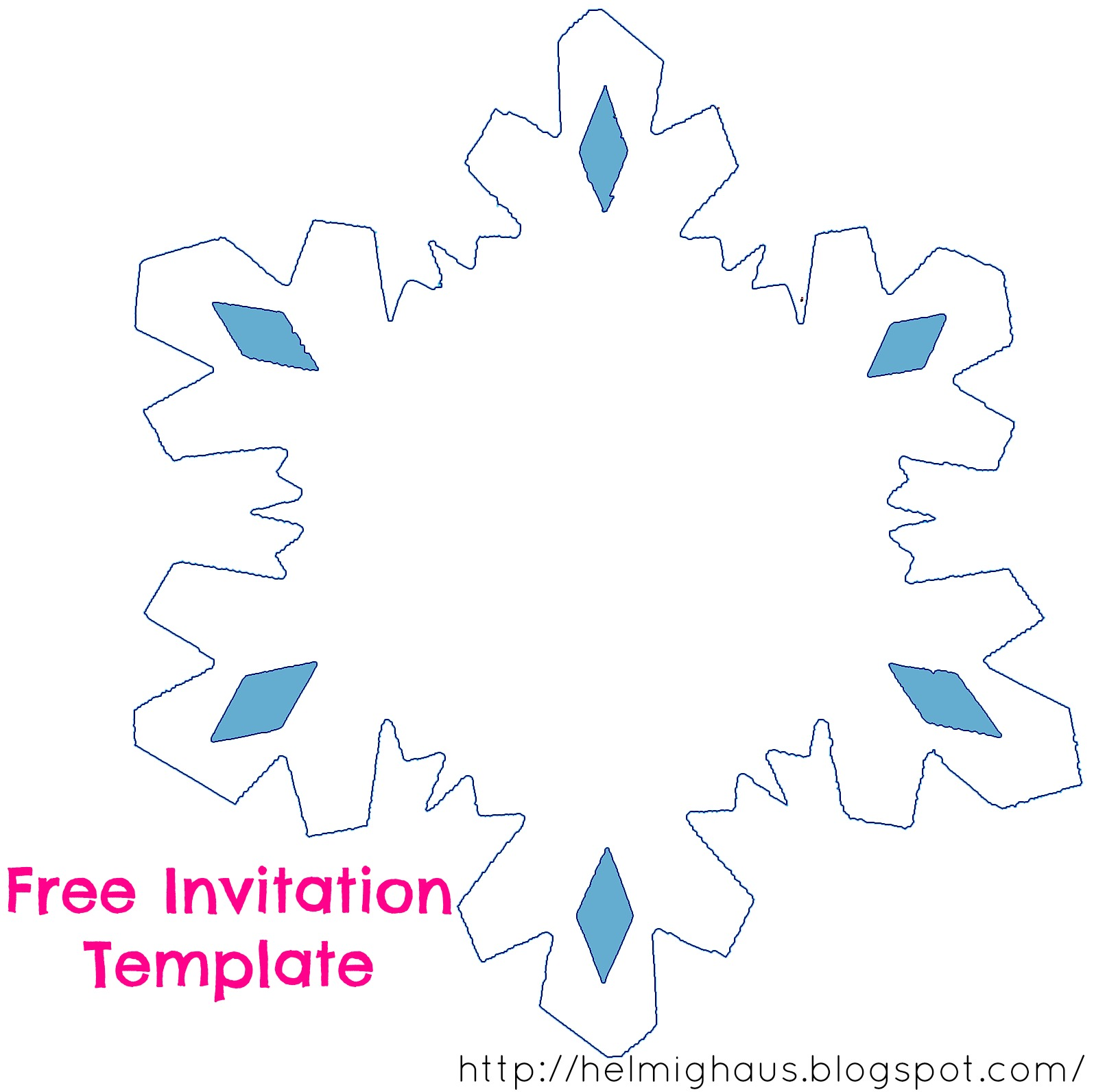 Helmighaus november 2014 blank snowflake template for invitations planning a quinceaera party creating the save the date solutioingenieria Image collections