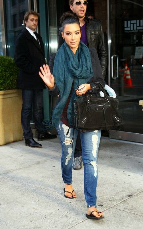 Scarf and Jeans fashion