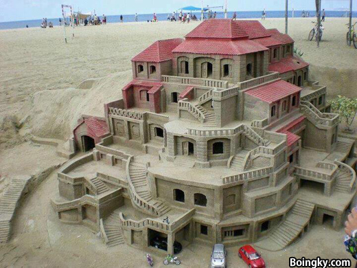 Epic Mansion House made of Sand