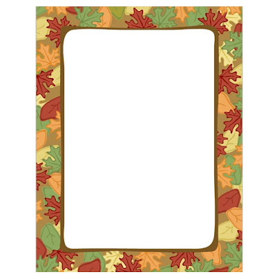 Artistic Fall Leaves Autumn Thanksgiving Computer Paper