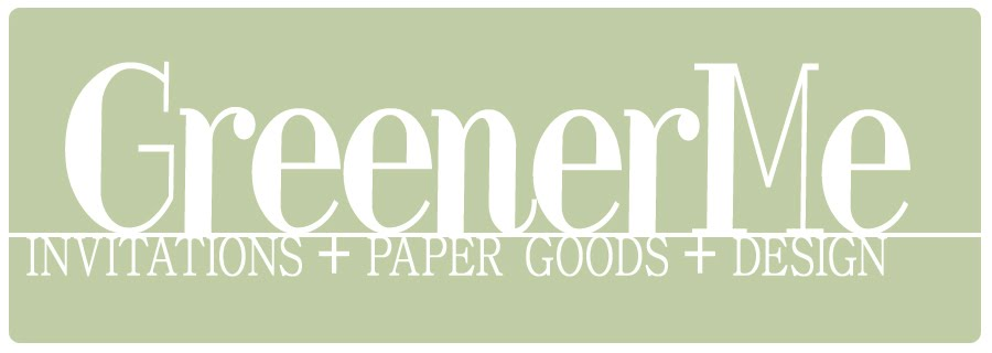 GreenerMe :: Invitations + Paper Goods + Design
