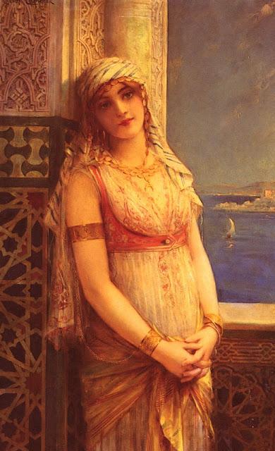 eastern beauty,beautiful girl,Leon Comerre
