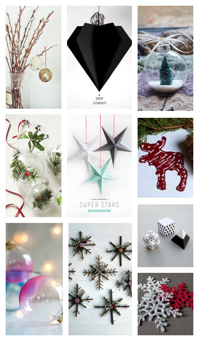 adornos low cost para el árbol de Navidad -diy