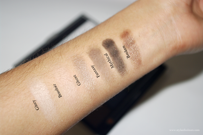 MUA Smoking Palette Swatches: Neutrals