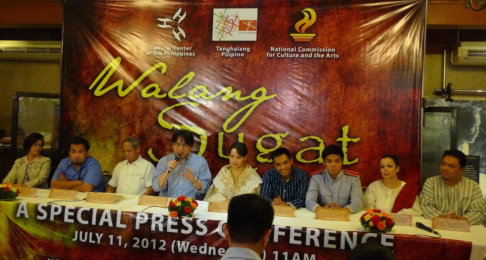 Tanghalang Pilipino's WALANG SUGAT Opens Thursday, 8/16