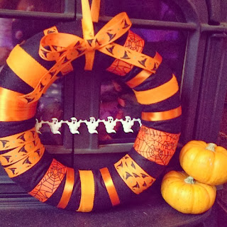 Halloween Ribbon Wreath by Zulily.