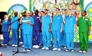 Peringkat dan warna baju banduan di Penjara Malaysia, Jabatan Penjara Malaysia