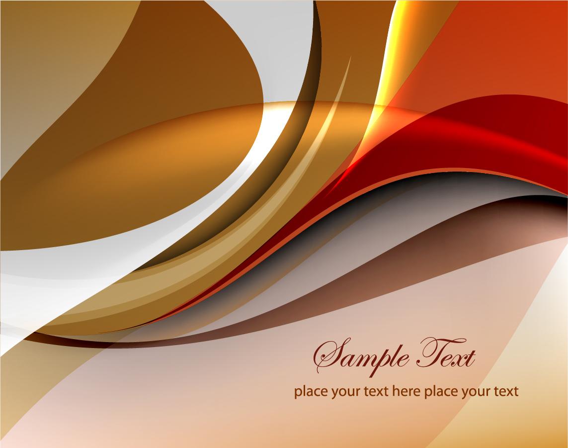 優雅な曲線が織り成す茶系の背景 Abstract Curves Vector Background イラスト素材