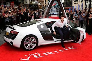 Hugh Jackman exit the audi car best wallpapers