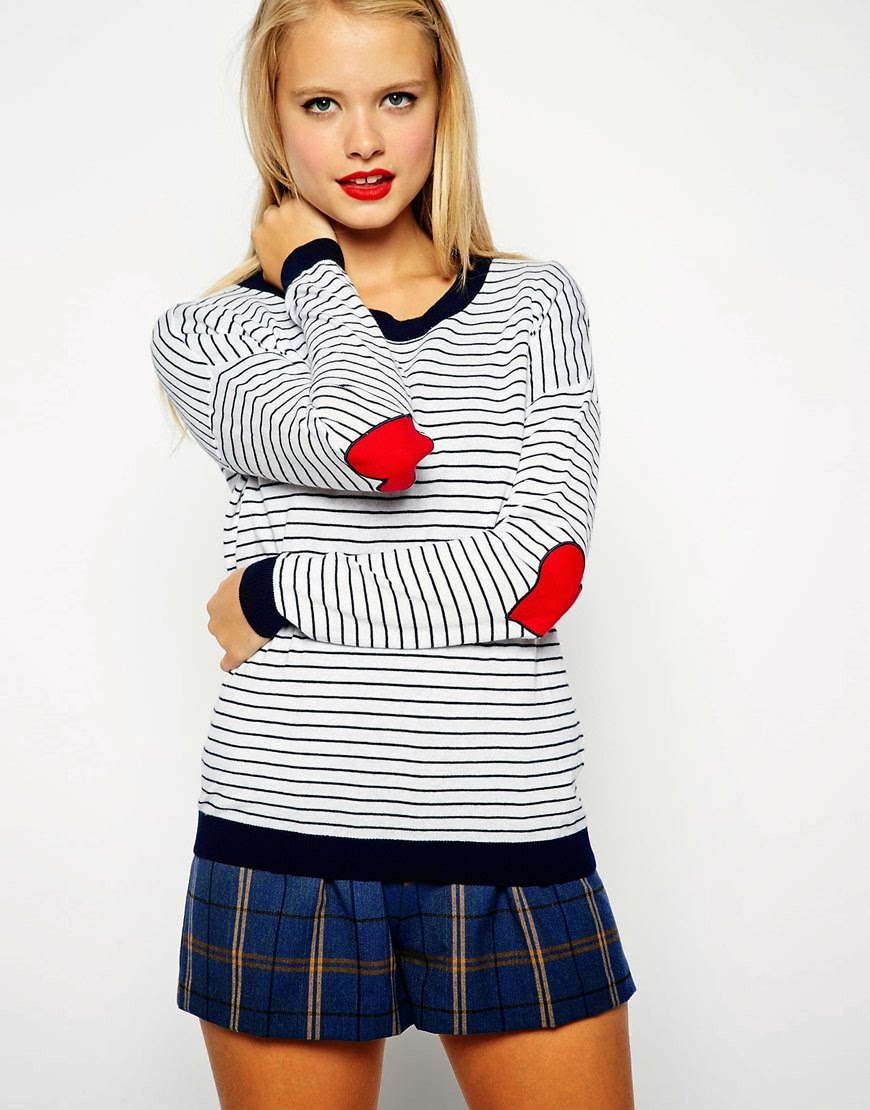 heart patch elbow top