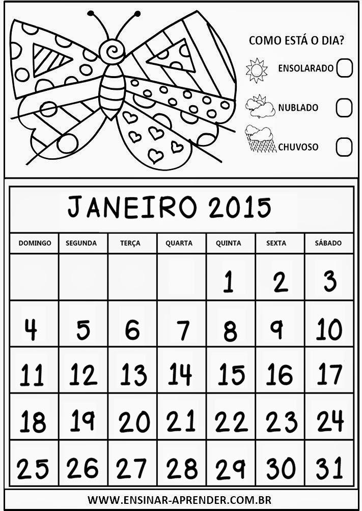 CALENDÁRIOS 2015 PARA CADERNO OU AGENDA, TEMA ROMERO BRITO