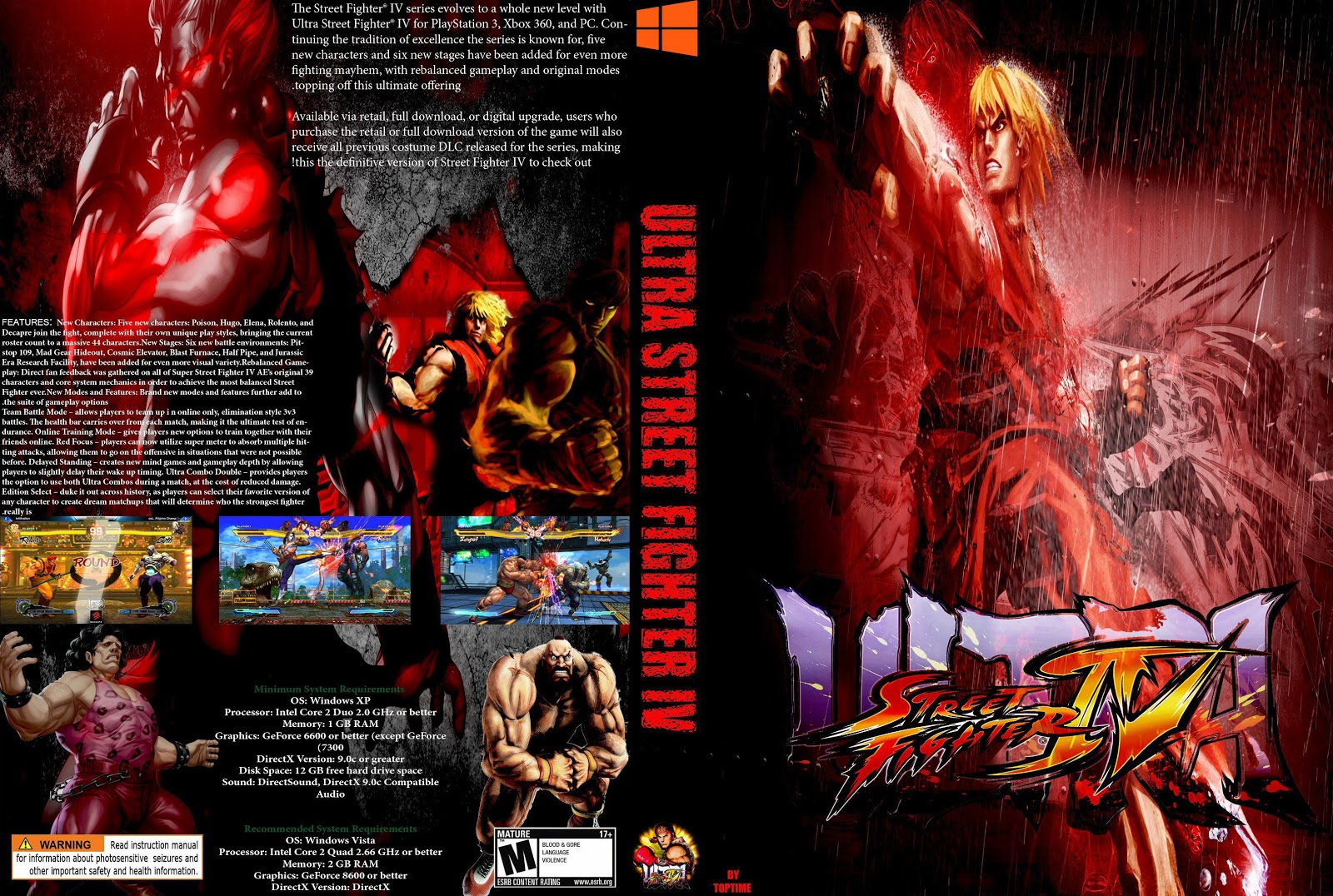 Capa Ultra Street Fighter IV PC