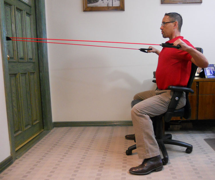 Resistance Bands Upright Row: 5 Upper Body Strength Exercises With Bands To Do At Your
