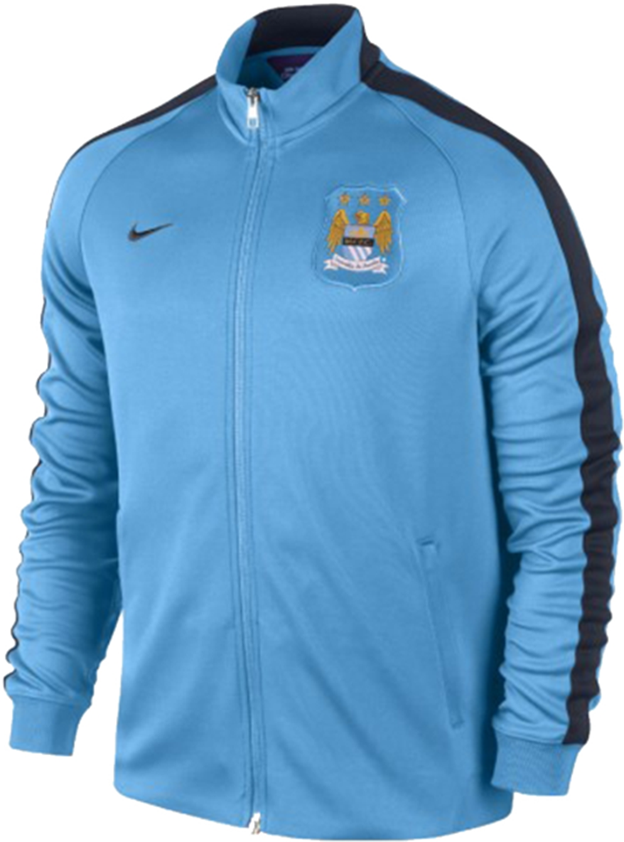 Manchester City FC Authentic N98 Men's Track Jacket Training 2015 Home