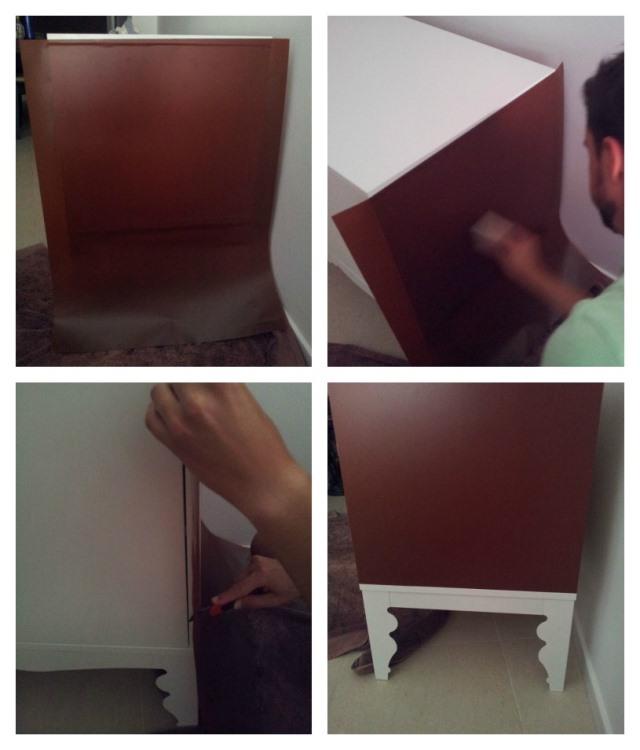 Como forrar muebles de cocina cool modulo muebles cocina - Forrar muebles cocina ...