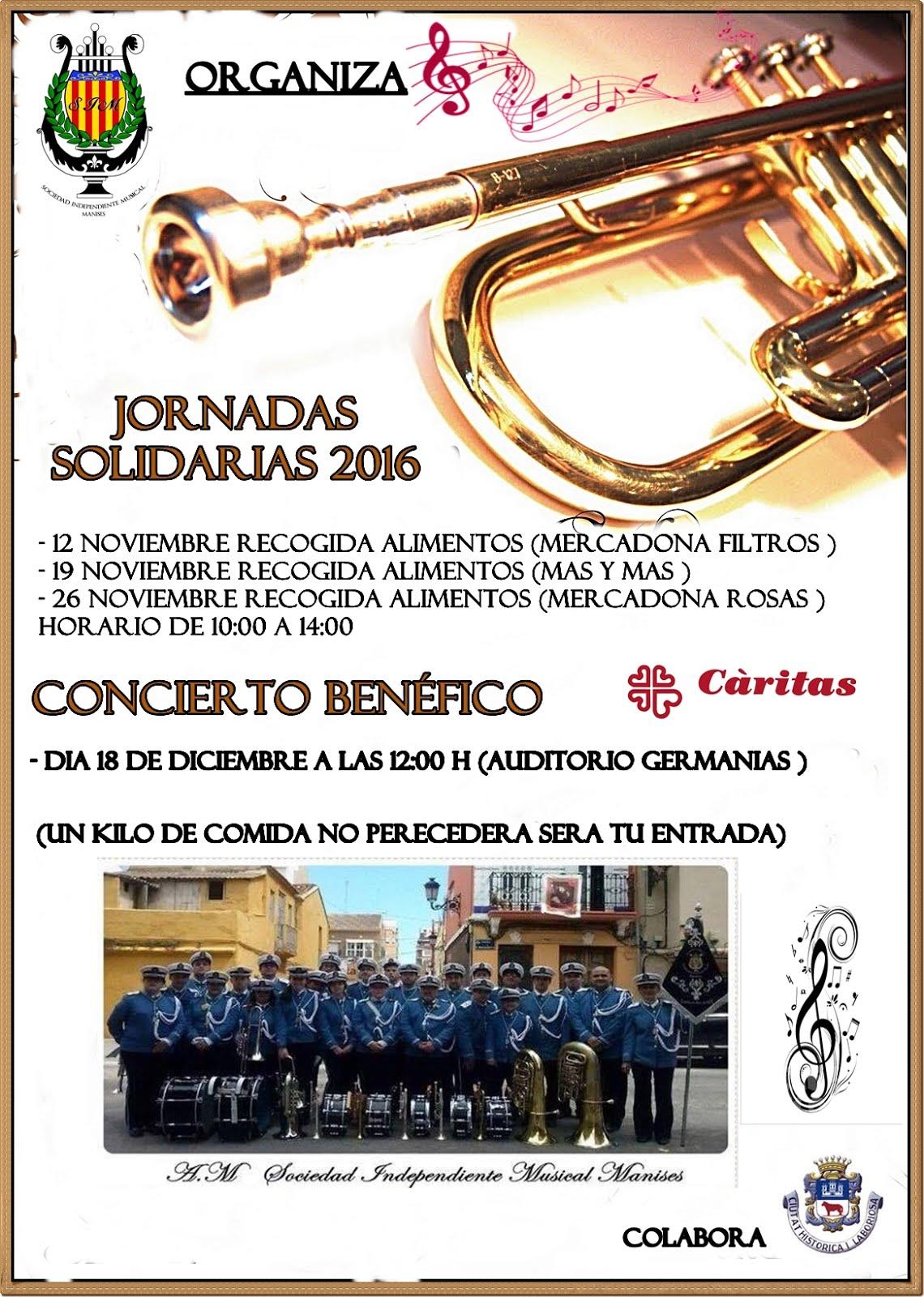 18.12.16 CONCIERTO DE LA SIM (SOCIEDAD INDEPENDIEN- TE MUSICAL) PARA CÁRITAS