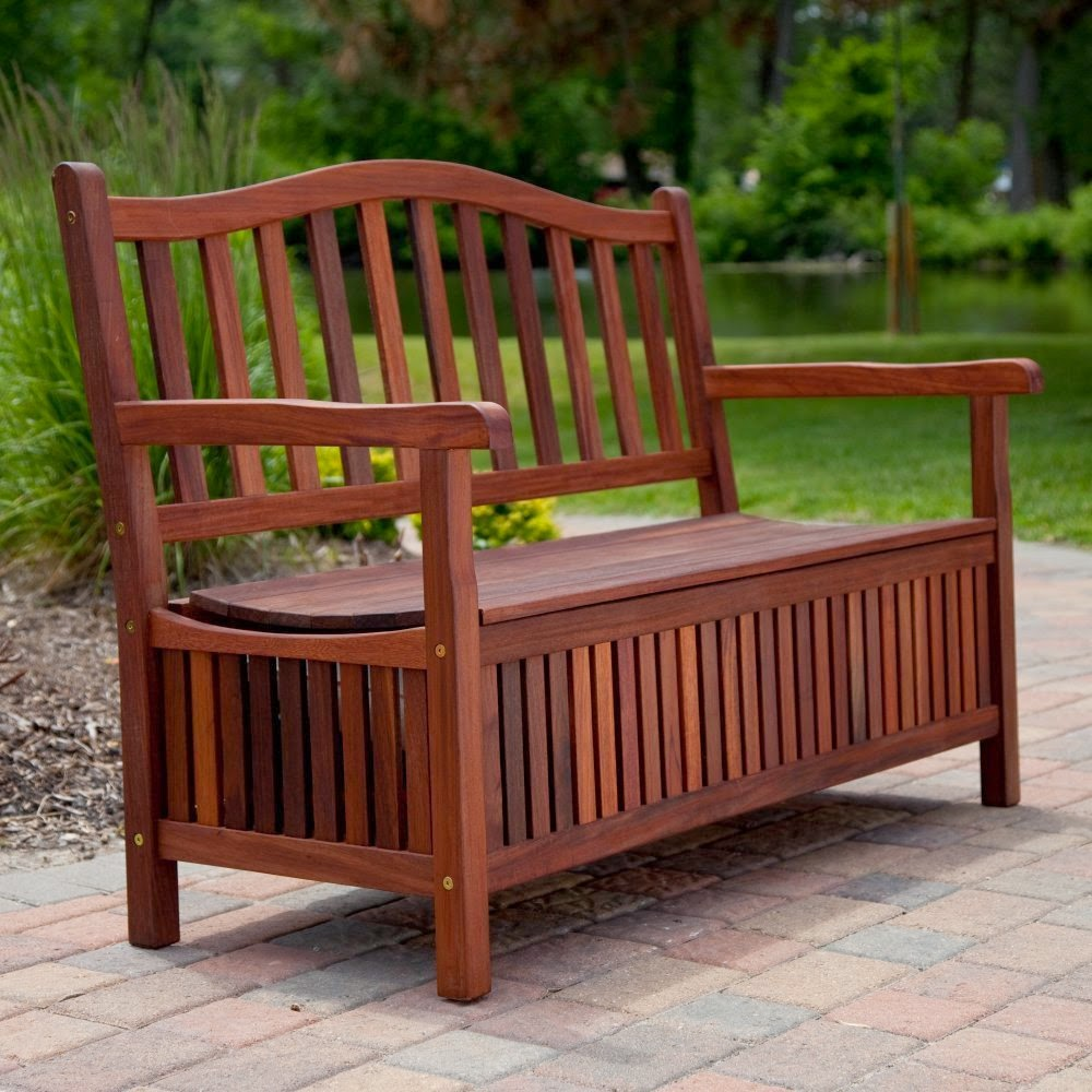 Best Model Of Wood Storage And Patio Bench