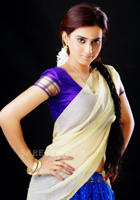 Dimple-Chopade-transparent-half-saree-photoshoot