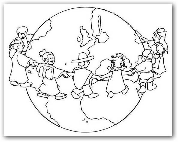 Dibujos de la paz para colorear dibujos para colorear - Dibujos en la pared infantiles ...