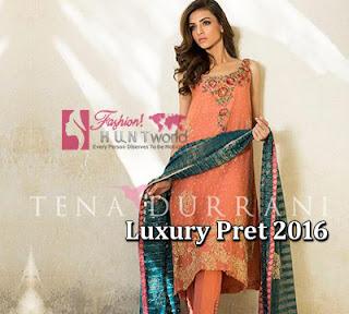 Tena Durrani Luxury Pret Winter Dresses 2016-2017 For Women