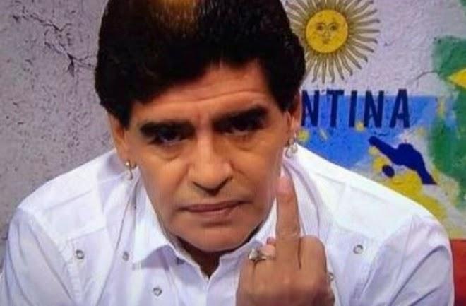 Ingreso de Diego Maradona a los estadios