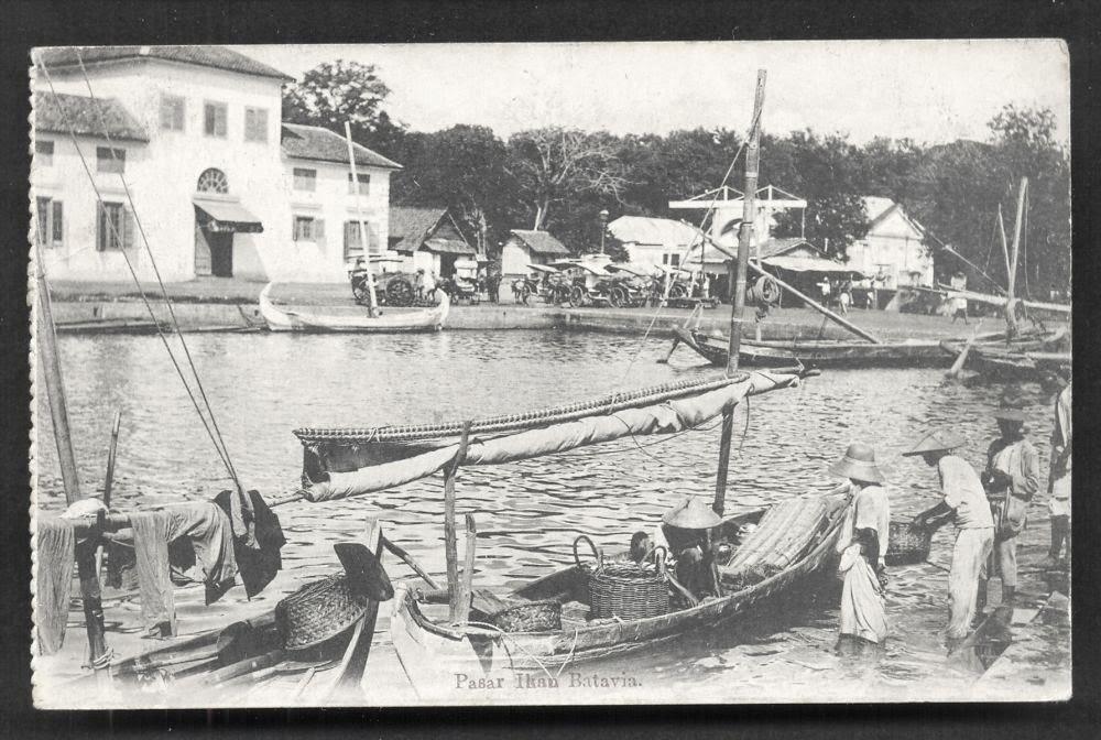 Batavia Pasar Ikan Fish Market Java Indonesia 1915