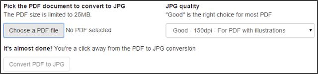 PDF to JPG Converter Interface