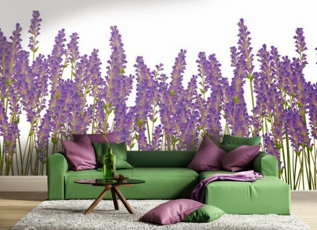 Wall Decoration Ideas With Photo Wallpaper Flower