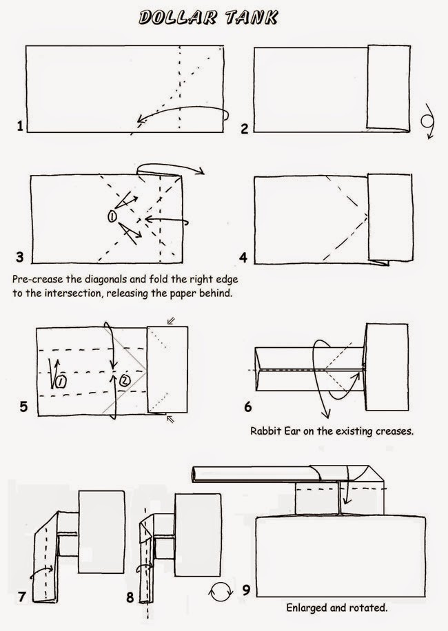Projects Art And Craft Easy Origami Tank Instructions