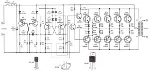 12VDC to 220V AC 500W Inverter Circuit