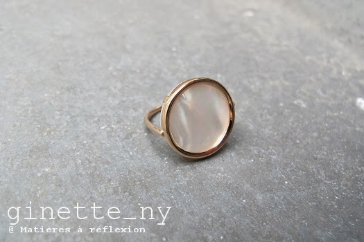 Bague Disc rose Ginette NY