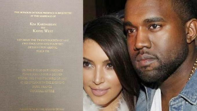 Undangan Pernikahan Kim Kardashian dan Kanye West Tergolong Sederhana