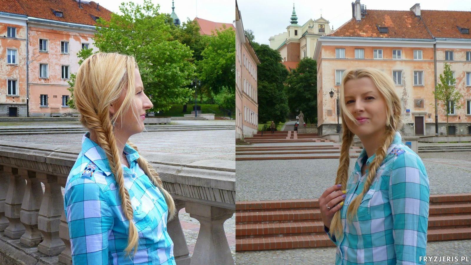 fryzura z dwoma kłosami