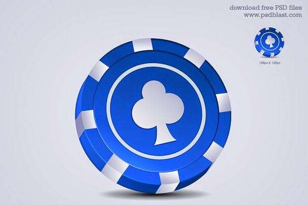 Gambling Chip Icon PSD