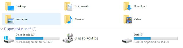Come controllare spazio residuo su hard disk