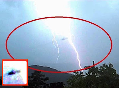 Disc UFO Causes Thunderstorm Above Brazil 2015, UFO Sightings