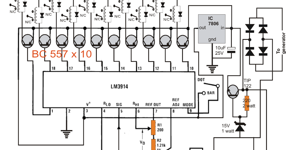 bike generator to 220v converter circuit