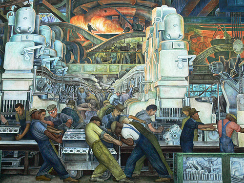 Not buying anything you are not a machine for Diego rivera mural detroit