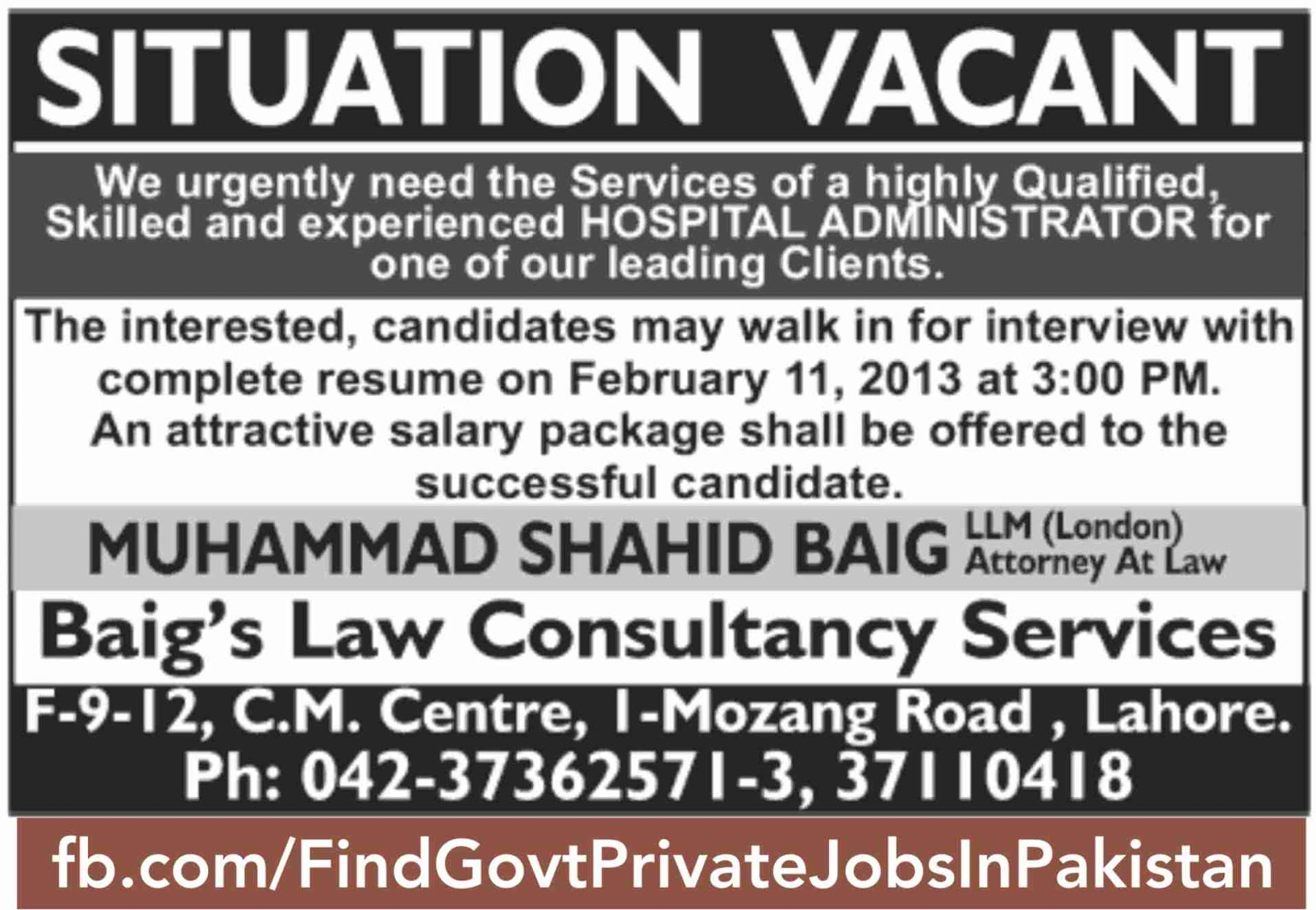 situation vacant job ads