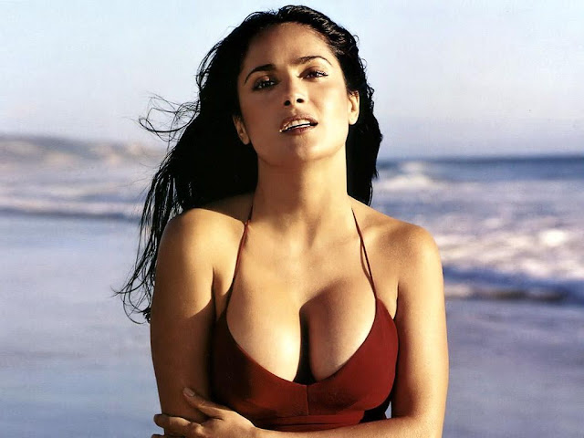 Salma Hayek Hot Body at Sea