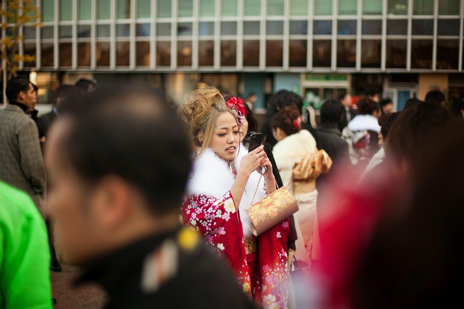Gyaru en kimono