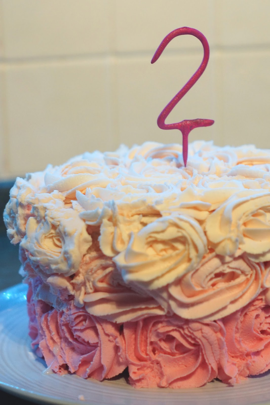 Hello Freckles Blog Birthday Ombre Cake