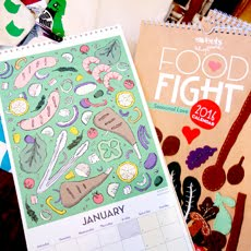 2016 Calendar 'Food Fight – Seasonal Love'