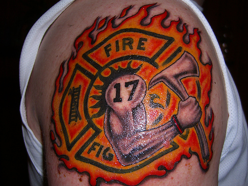 tattoos design firefighter tattoos designs pictures and ideas. Black Bedroom Furniture Sets. Home Design Ideas