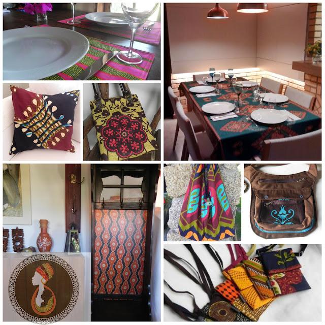 moda em capulana e decoração com tecido africano