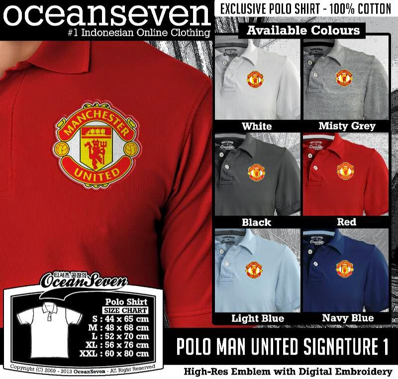 Kaos Polo Man United Signature 1