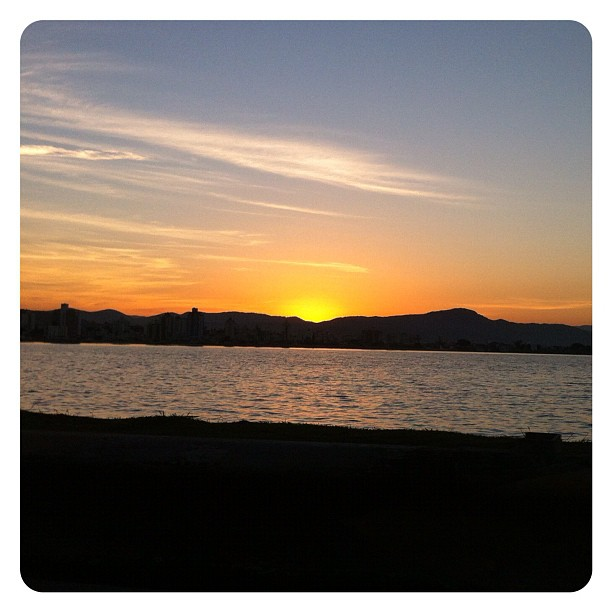 Por do sol na Av. Beira-Mar Norte - Floripa