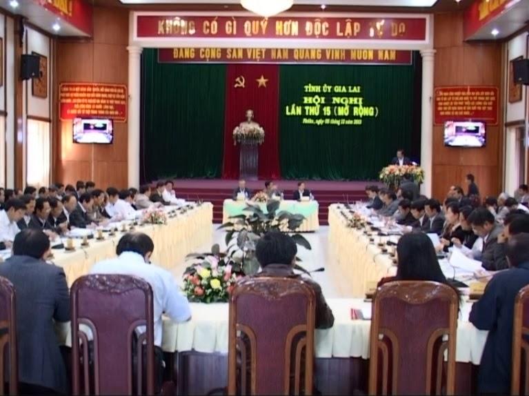 Hội nghị Ban Chấp hành Đảng bộ tỉnh Gia Lai lần thứ 15, khóa XIV (mở rộng)