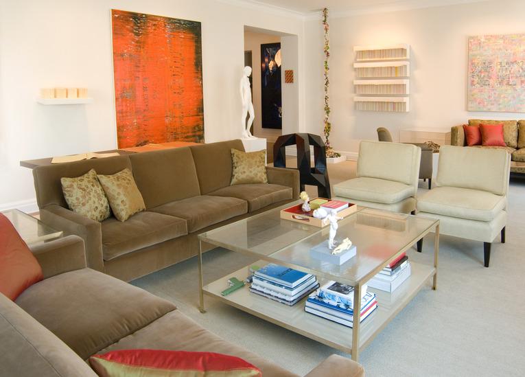 Blue Orange Color Combination Modern Kitchen Bedroom